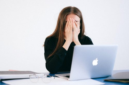 Business women stressed